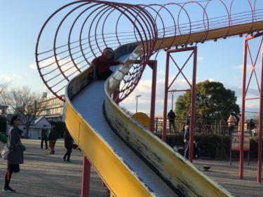 長良公園♪一番大きい砂山トンネルを作るの巻!
